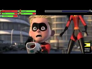 The Incredibles vs Omnidroid with helathbars