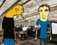 Empleado y Zuckerbergas