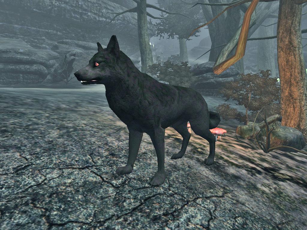 Adult Shadow Wolf