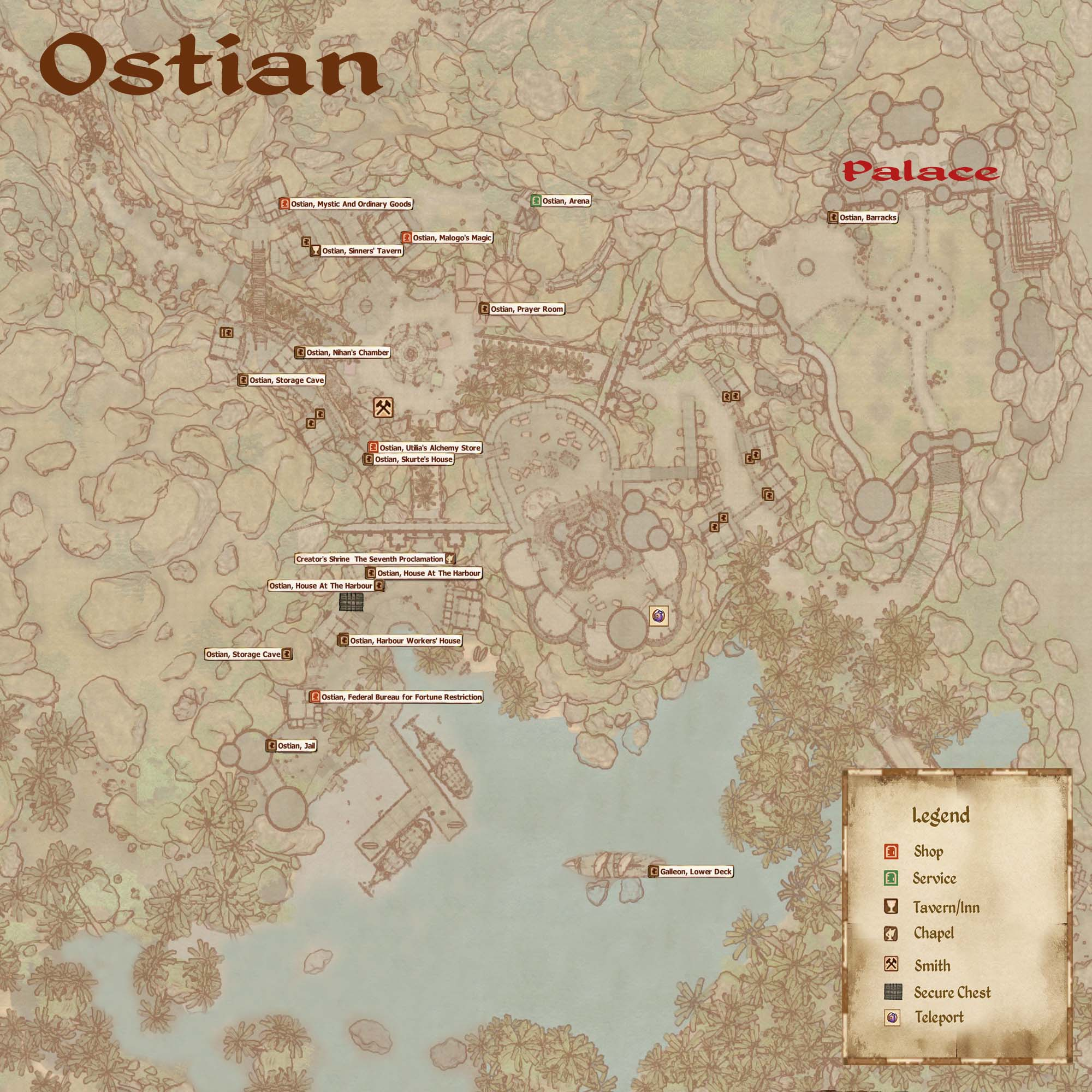 Ostian, Harbour
