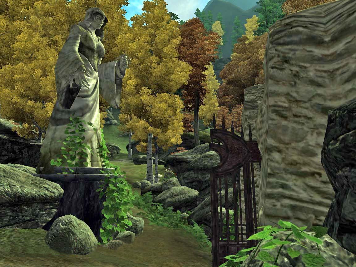 Gate to Farnfeld Cemetery