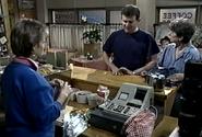 Naybers inside coffee shop 1986