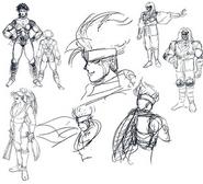 Mai Shiranui design sketches