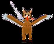 Cat Squirrel RiderFront