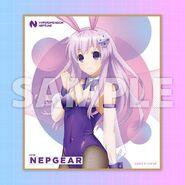 HDNA-Bunny Girl Nepgear Colored Paper Illustration