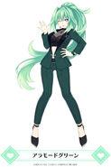 MainichiCH-Green Heart A La Mode Green