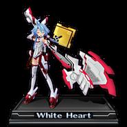 White Heart Figure Icon V