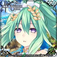 4 Goddesses Online Green Heart Twitter Icon