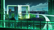 Ultra Dimension Leanbox - White Building - Night
