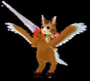 Cat Squirrel Rider