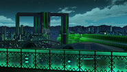Ultra Dimension Leanbox - Almost White Building - Night