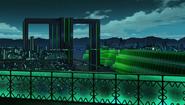 Ultra Dimension Leanbox - Black Building - Night