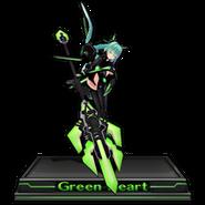 Green Heart Figure Icon V