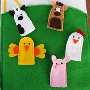 Farm Animal Finger Puppets Sewing Pattern (Jocelyn Thomas)