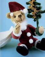 Santa Teddy Bear Sewing Pattern (Ikuyo Kasuya)