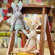 Rabbit Plushie Sewing Pattern 2 (Jo Carter)