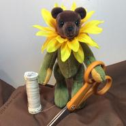 Flower Teddy Bear Sewing Pattern (Silver Seams)