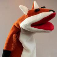 Fox Hand Puppet Sewing Pattern (Hello World Program)