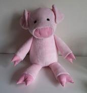Pig Plushie Sewing Pattern (Jo Carter)