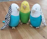 Parakeet Plushie Sewing Pattern (Jo Carter)