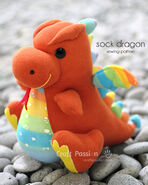 Sock Dragon Sewing Pattern (Craft Passion)