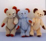 Teddy Bear Sewing Pattern 3 (Ikuyo Kasuya)