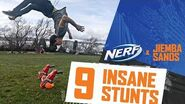 9 UNBELIEVABLE Stunts w NERF x Jiemba Sands Don't Try This at Home!