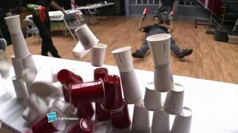 NERF Stunts Vortex Trick Shots Behind the Scenes of a Commercial