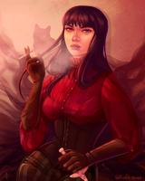 Mia Corvere by Golden Rose, Smoking