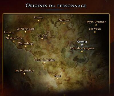 Régions de Féerune
