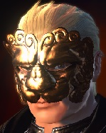 A character wearing the Lion Mask