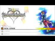 Kingdom Hearts Re-Chain of Memories Title Screen (PS4)