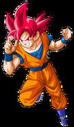 Goku supersaiyajin god by saodvd-d9a5wu9