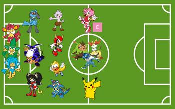 Pokemon vs Sonic FM Equipo inicial