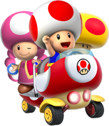 Toad and toadette mk double blast by superkiryoshi-d7kjdq9.png