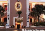 A giant onion ball is dropped in St. George's, Bermuda