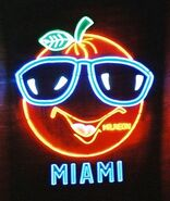 An orange named Mr. Neon is raised in Miami, Florida