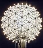 A giant ball is dropped in Las Vegas, Nevada