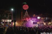 A cherry is dropped in Traverse City, Michigan