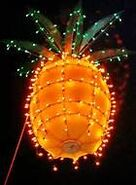 A large glowing pineapple is dropped in Sarasota, Florida