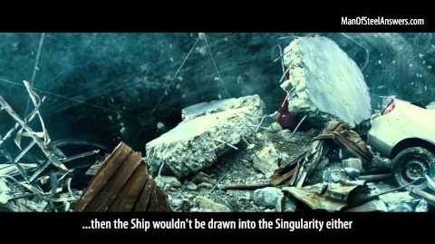 Man of Steel Myths The Scout Ship Was Destroyed In The Singularity