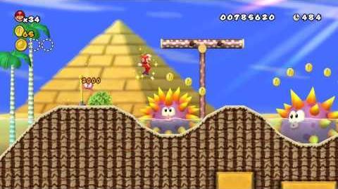 Newer_Super_Mario_Bros._Wii_World_2-6_Urchin_Seasands_Star_Coins