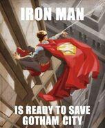 Iron Man is ready to save Gotham City