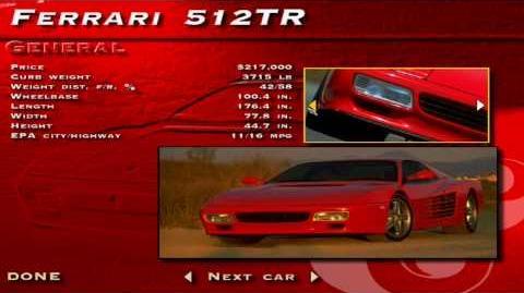 The Need for Speed SE - Ferrari 512TR Showcase