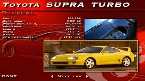 The Need for Speed SE - Toyota Supra Turbo Showcase
