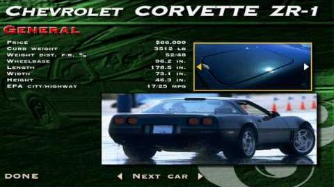 The Need for Speed SE - Chevrolet Corvette ZR-1 Showcase