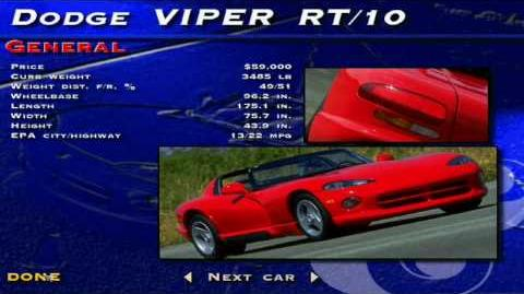 The Need for Speed SE - Dodge Viper RT 10 Showcase
