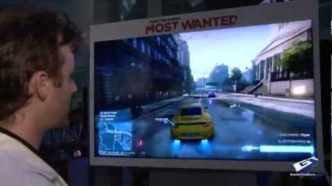 Need For Speed Most Wanted - E3 2012 Speedwall Walkthrough (Cam)