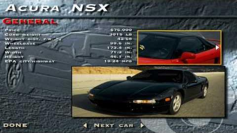 The Need for Speed SE - Acura NSX Showcase