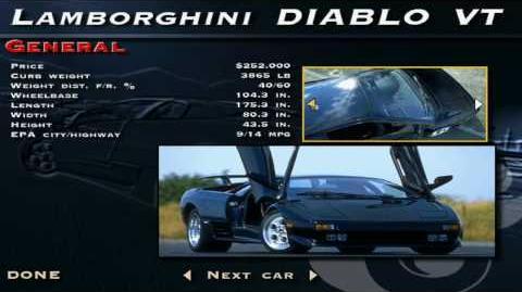 The Need for Speed SE - Lamborghini Diablo VT Showcase